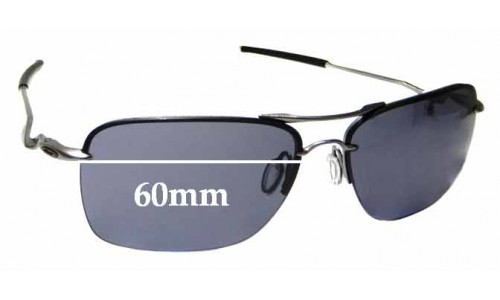 Sunglass Fix Sunglass Replacement Lenses for Oakley Tailback OO4109 - 60mm Wide