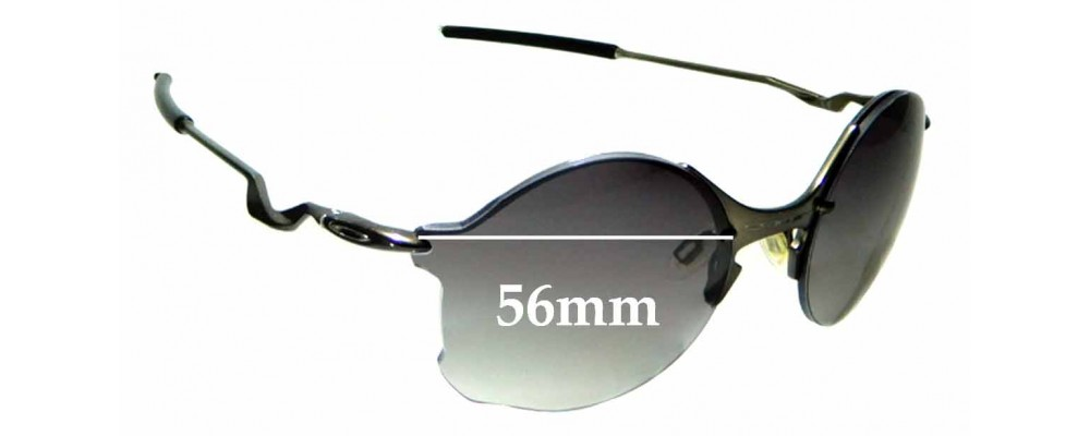 Sunglass Fix Sunglass Replacement Lenses for Oakley Tailend OO4088 - 56mm Wide