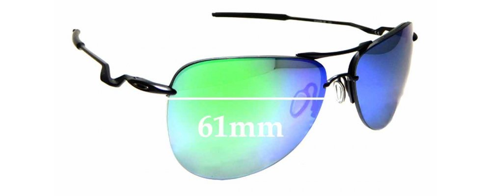 Sunglass Fix Sunglass Replacement Lenses for Oakley Tailpin OO4086 - 61mm Wide