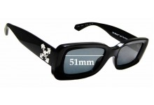 Sunglass Fix Sunglass Replacement Lenses for Off White HU4001 - 51 mm Wide