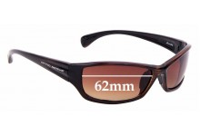 Sunglass Fix Sunglass Replacement Lenses for Optic Nerve Stonefly - 62mm