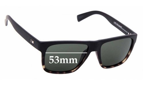 Sunglass Fix Sunglass Replacement Lenses for Otis Life On Mars - 53mm Wide