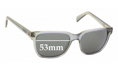 Sunglass Fix Sunglass Replacement Lenses for Otis Test of Time - 53mm Wide