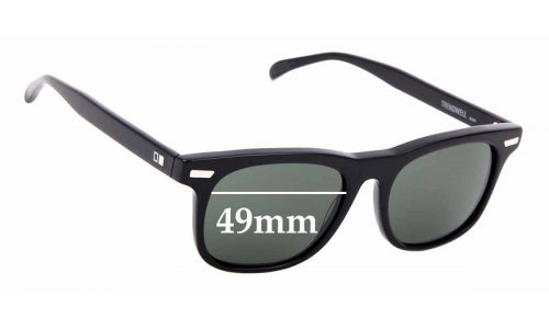 Sunglass Fix Sunglass Replacement Lenses for Otis Trendwell - 49mm Wide