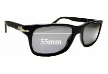 Sunglass Fix Sunglass Replacement Lenses for Persol 3048-S - 55mm Wide *Please measure as there are variations*