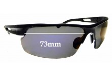 Sunglass Fix Sunglass Replacement Lenses for Police 1593 - WE CANNOT MAKE LENSES FOR THESE - 73mm Wide