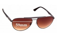Sunglass Fix Sunglass Replacement Lenses for Police Brooklyn SPL-364 - 59mm Wide