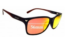 Sunglass Fix Sunglass Replacement Lenses for Police Game 9 SPL-114G - 56mm Wide