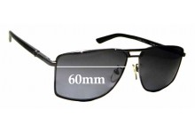 Sunglass Fix Sunglass Replacement Lenses for Police S8848 - 60mm Wide