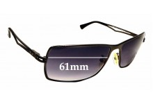 Sunglass Fix Sunglass Replacement Lenses for Police S8766 Rush 3 - 61mm Wide