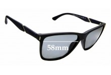 Sunglass Fix Sunglass Replacement Lenses for Police Speed 10 SPL-529 - 58mm Wide