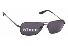 Sunglass Fix Sunglass Replacement Lenses for Police Sunset 2 SPL-116G - 61mm Wide