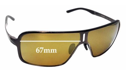 Sunglass Fix Sunglass Replacement Lenses for Porsche Design P 8496 - 67mm Wide