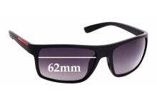Sunglass Fix Sunglass Replacement Lenses for Prada SPS02Q - 62mm Wide