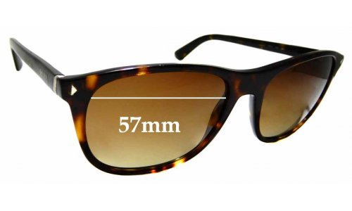 Sunglass Fix Sunglass Replacement Lenses for Prada SPR 01R - 57mm Wide