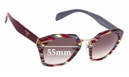 Sunglass Fix Sunglass Replacement Lenses for Prada SPR 04T - 55mm wide