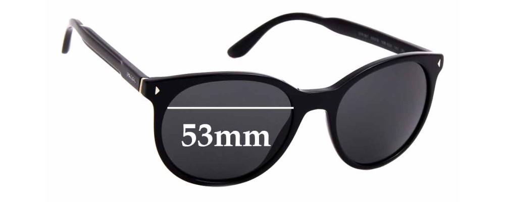 Sunglass Fix Sunglass Replacement Lenses for Prada SPR06T - 53mm Wide