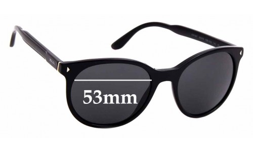 Sunglass Fix Sunglass Replacement Lenses for Prada SPR 06T - 53mm Wide