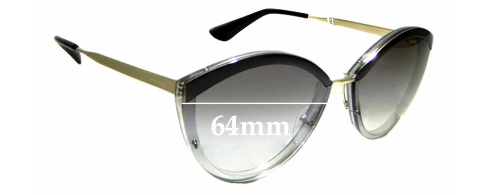 e47f1ae650 Prada SPR 07U   The Cannot Create Lenses For This Model Sorry!  Replacement  Lenses 61mm Wide by The Sunglass Fix® Australia