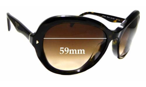 Sunglass Fix Sunglass Replacement Lenses for Prada SPR09O - 59mm Wide