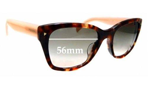 Sunglass Fix Sunglass Replacement Lenses for Prada SPR 09S-F - 56mm wide