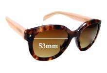 Sunglass Fix Sunglass Replacement Lenses for Prada SPR12S-F - 53mm Wide