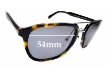 Sunglass Fix Sunglass Replacement Lenses for Prada SPR12T - 54mm Wide