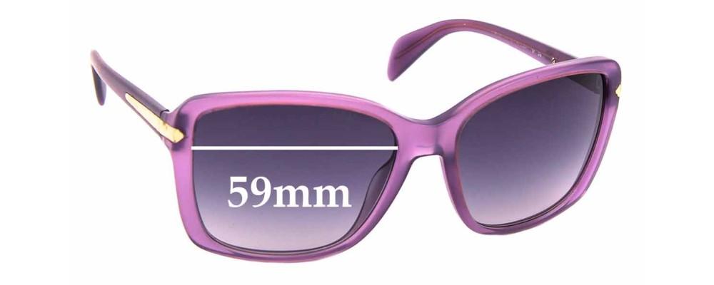 Sunglass Fix Sunglass Replacement Lenses for Prada SPR14P - 59mm Wide