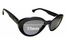 Sunglass Fix Sunglass Replacement Lenses for Prada SPR15Q-F - 53mm Wide