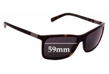 Sunglass Fix Sunglass Replacement Lenses for Prada SPR16O - 59mm Wide