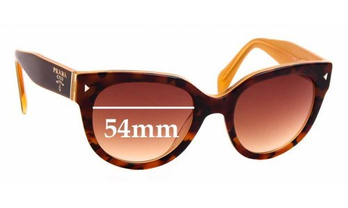 Sunglass Fix Sunglass Replacement Lenses for Prada SPR17O - 54mm Wide
