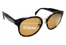 Sunglass Fix Sunglass Replacement Lenses for Prada SPR17T - 53mm Wide