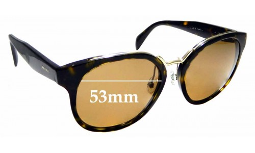 Sunglass Fix Sunglass Replacement Lenses for Prada SPR 17T - 53mm Wide