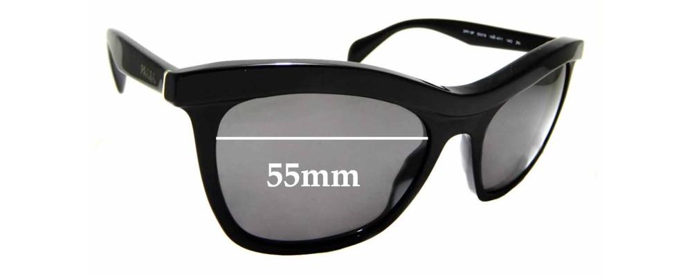 Sunglass Fix Sunglass Replacement Lenses for Prada SPR19P - 55mm Wide