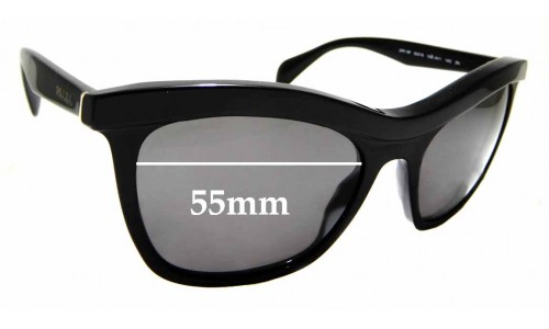 Sunglass Fix Sunglass Replacement Lenses for Prada SPR 19P - 55mm wide