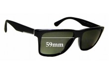 Sunglass Fix Sunglass Replacement Lenses for Prada SPR19S - 59mm Wide