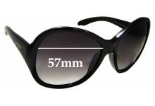 Sunglass Fix Sunglass Replacement Lenses for Prada SPR20L - 57mm Wide