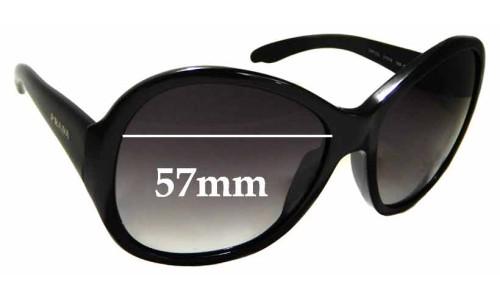 Sunglass Fix Sunglass Replacement Lenses for Prada SPR 20L - 57mm wide