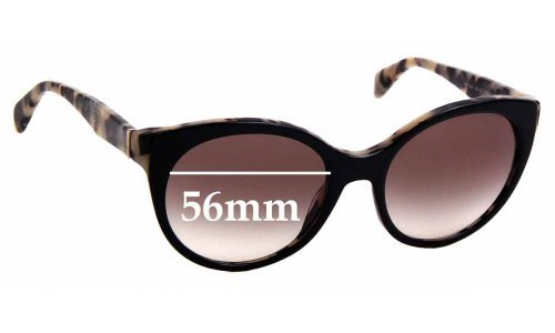 Sunglass Fix Sunglass Replacement Lenses for Prada SPR23O - 56mm Wide