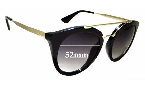 Sunglass Fix Sunglass Replacement Lenses for Prada SPR 23S - 52mm Wide