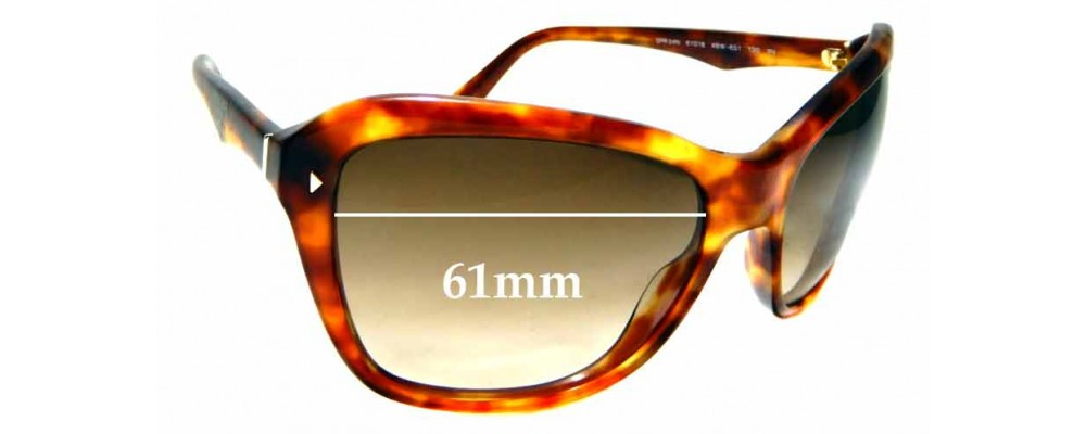 Sunglass Fix Sunglass Replacement Lenses for Prada SPR24N - 61mm Wide