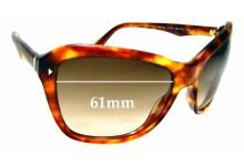 Sunglass Fix Sunglass Replacement Lenses for Prada SPR24N - 61mm Wide