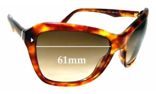Sunglass Fix Sunglass Replacement Lenses for Prada SPR 24N - 61mm wide