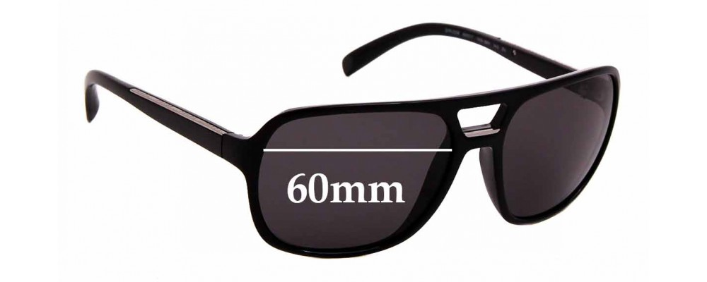 Sunglass Fix Sunglass Replacement Lenses for Prada SPR25M - 60mm Wide