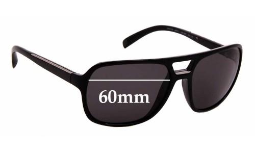 Sunglass Fix Sunglass Replacement Lenses for Prada SPR 25M - 60mm Wide