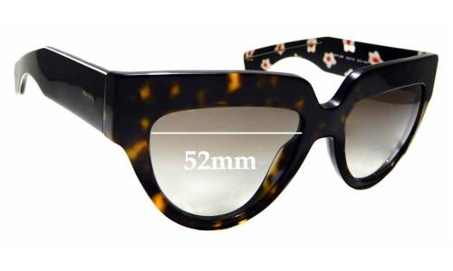 Sunglass Fix Sunglass Replacement Lenses for Prada SPR 29P - 52mm wide