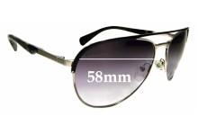 Sunglass Fix Sunglass Replacement Lenses for Prada SPR51Q - 58mm Wide