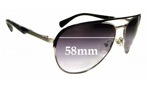Sunglass Fix Sunglass Replacement Lenses for Prada SPR51Q - 58mm Wide