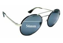 Sunglass Fix Sunglass Replacement Lenses for Prada SPR51S - 54mm Wide