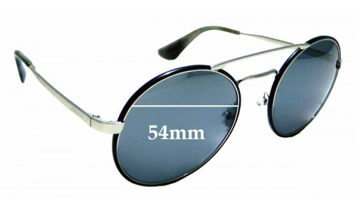 Sunglass Fix Sunglass Replacement Lenses for Prada SPR51S - 54mm wide